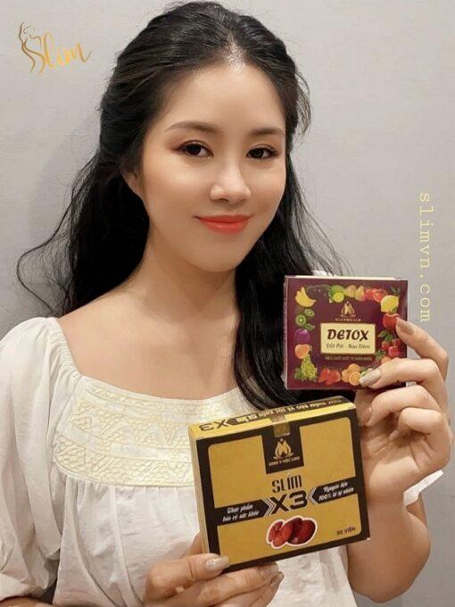 Dien vien Le Phuong Giam can slim X3 chinh hang Giảm cân Slim X3