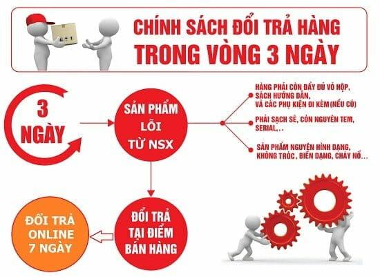Chinhs sách đổi trả hàng hóa Giảm cân Slim X3