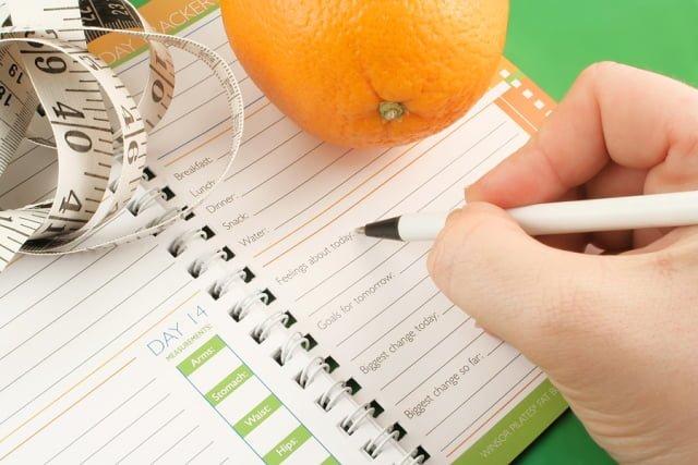 Kế hoạch nhật ký chế độ ăn giảm cân