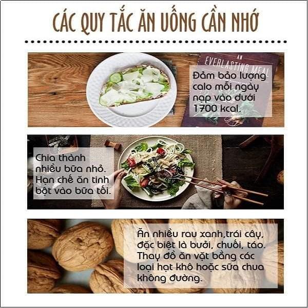 Các quy tắc ăn uống cần nhớ - Thực đơn giảm cân