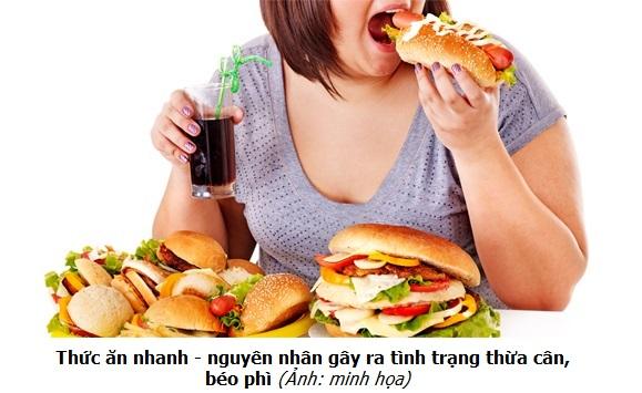Thức ăn nhanh - nguyên nhân gây ra tình trạng thừa cân béo phì