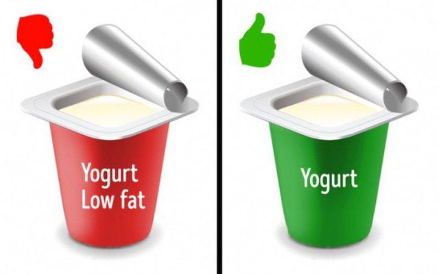 Yogurt thực phẩm tách béo hoặc thực phẩm ăn kiêng