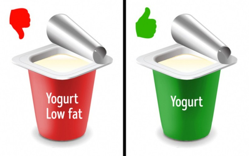Chỉ dùng thực phẩm tách béo hoặc thực phẩm ăn kiêng