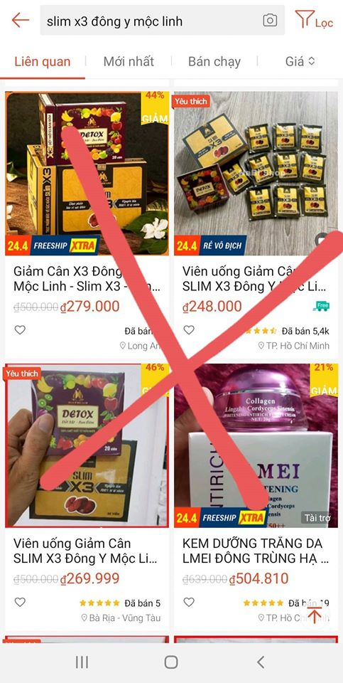 Giảm cân Slim X3 chính hãng - Cảnh báo hàng giả và kém chất lượng trên thị trường