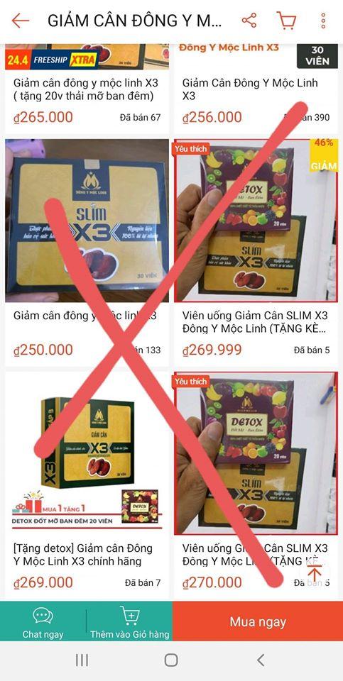 Giảm cân Slim X3 chính hãng - Cảnh báo hàng giả và kém chất lượng trên thị trường 222