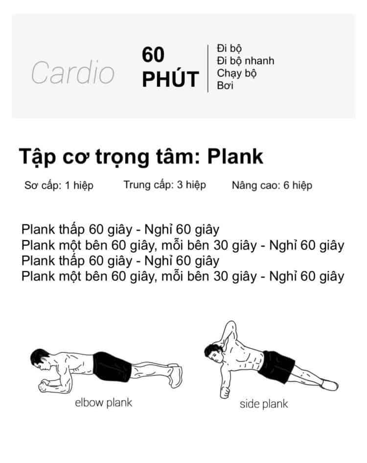 30 bài tập cardio giảm cân giảm mỡ hiệu quả đơn giản tại nhà - Ngày 11
