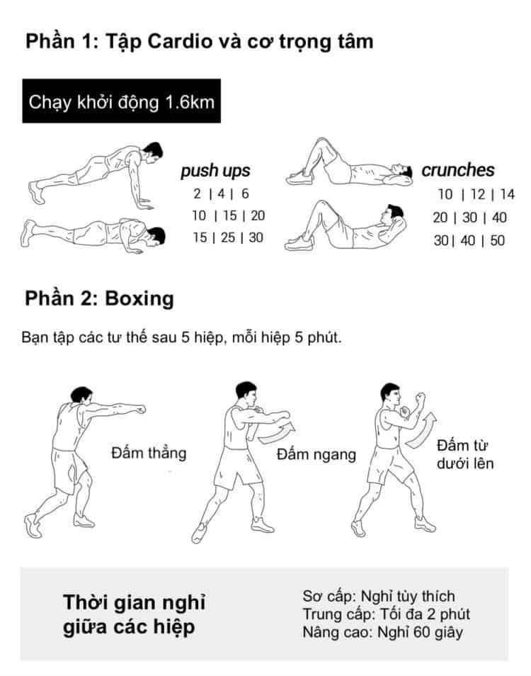 30 bài tập cardio giảm cân giảm mỡ hiệu quả đơn giản tại nhà - Ngày 14