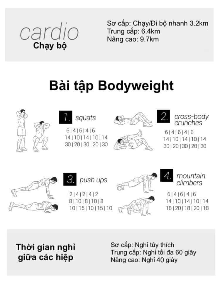 30 bài tập cardio giảm cân giảm mỡ hiệu quả đơn giản tại nhà - Ngày 17