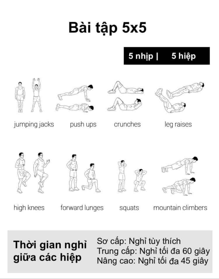Ngay 23 tap the duc giam can tai nha 30 bài tập Cardio giảm cân giảm mỡ hiệu quả đơn giản tại nhà