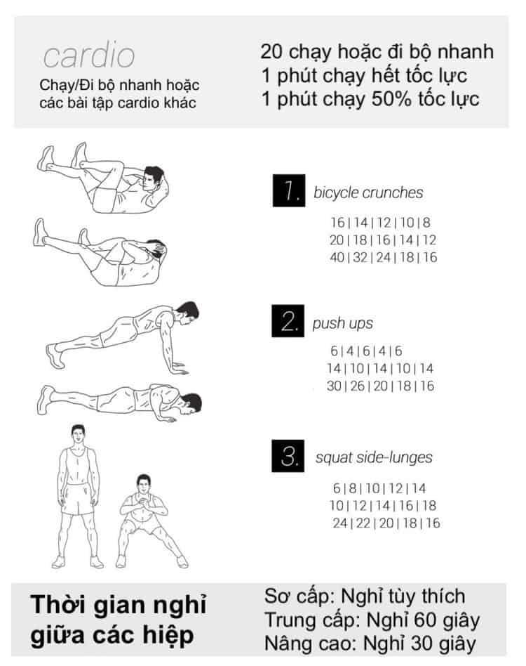 Ngay 24. tap the duc giam can tai nha 30 bài tập Cardio giảm cân giảm mỡ hiệu quả đơn giản tại nhà