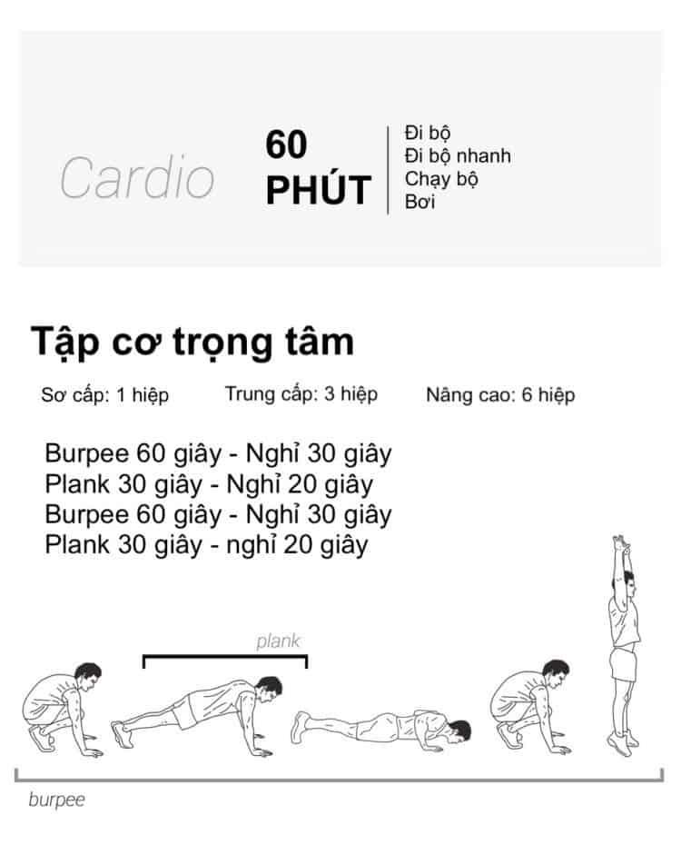 Ngay 26 tap the duc giam can tai nha 30 bài tập Cardio giảm cân giảm mỡ hiệu quả đơn giản tại nhà