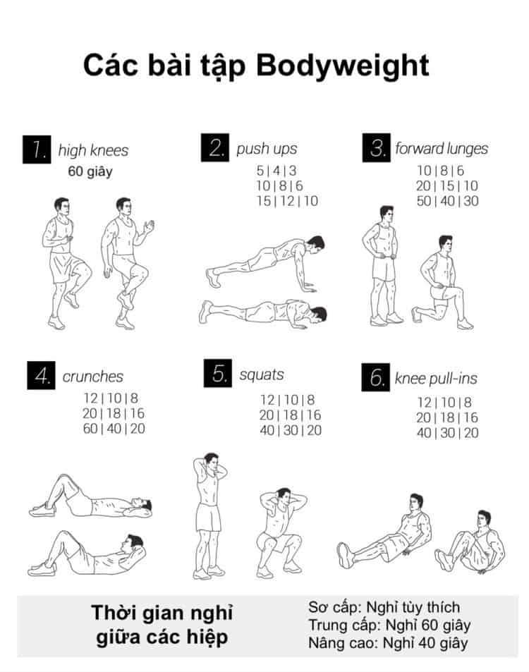 30 bài tập cardio giảm cân giảm mỡ hiệu quả đơn giản tại nhà - Ngày 7