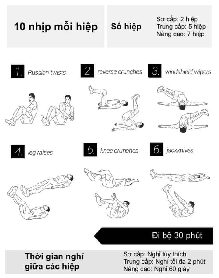30 bài tập cardio giảm cân giảm mỡ hiệu quả đơn giản tại nhà - Ngày 9