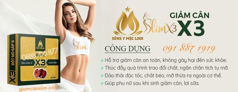 Giảm cân Slim X3 - Giảm cân Đông Y Mộc Linh - Banner