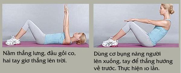 Thực đơn giảm cân sau sinh kết hợp tập thể dục tại nhà hiệu quả - Ngóc đầu nằm ngửa