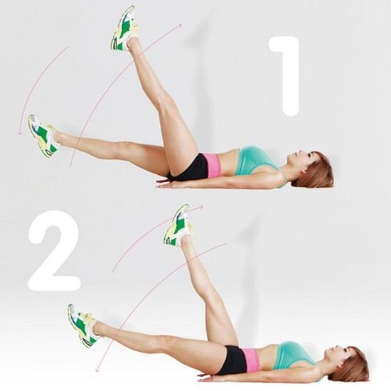 Bài tập xoay chân giúp giảm mỡ bụng toàn diện - 7 bài tập giảm mỡ bụng