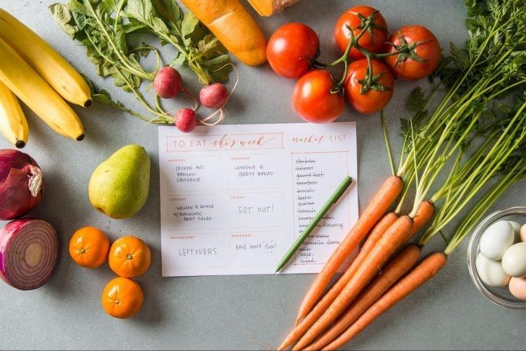 Sổ nhật ký ghi chép Dữ liệu dinh dưỡng - 5 mẹo giảm cân sau Tết