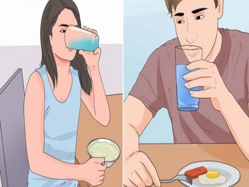 Lấy lại vòng eo con kiến - mẹo uống nước trước khi ăn
