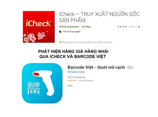 Phát hiện hàng giả hàng nhái bằng iCheck - Barcode Viet