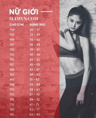 Bảng cách tính chiều cao cân nặng dành cho nữ giới - SLIMVN.COM
