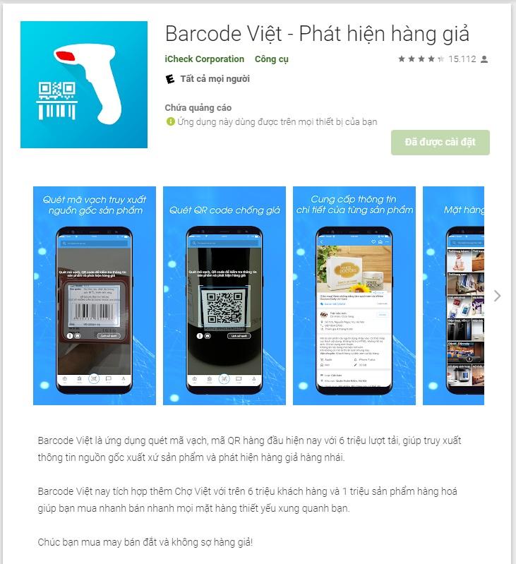 Phát hiện hàng giả bằng phần mềm Barcode Viet - phat hien hang gia