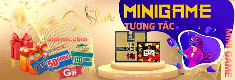 Khuyến mãi SLIM X3 - Mini Game Giảm cân SLIMX3 nhận quà HOT