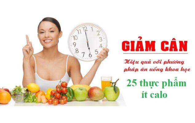 25 thực phẩm ít calo, giàu dinh dưỡng và tốt cho giảm cân - SLIM X3 - SLIMVN.COM