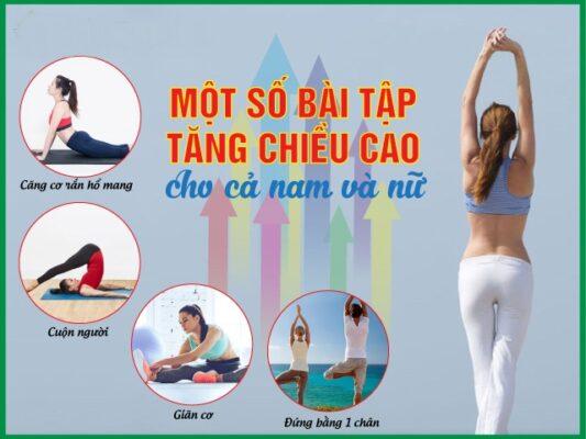 8 Bài tập tăng chiều cao hiệu quả cho cả nam và nữ