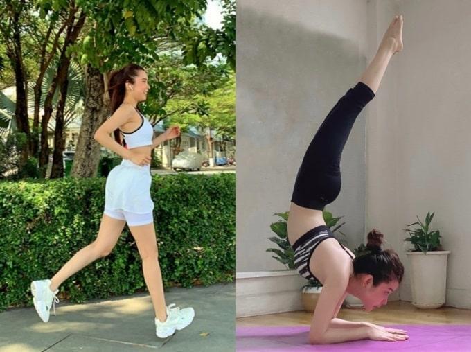 Miss Huỳnh Vy - chăm chỉ chạy bộ và tập YOGA mỗi ngày để có vòng eo 55cm