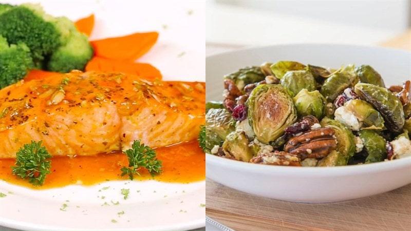 Thực đơn giảm cân cho nữ nhiều rau củ xanh - bữa tối