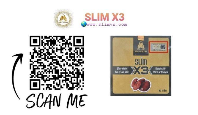 QR code Slim X3 chính hãng - tem chống hàng giả hàng nhái của Bộ công an