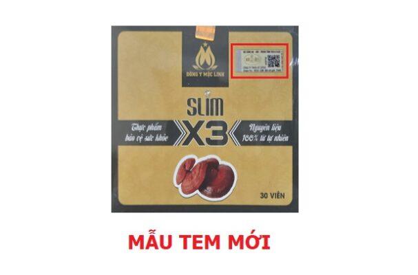 QR code giảm cân Slim X3 chính hãng chống hàng giả cover 1
