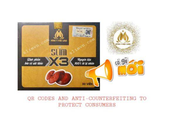 QR code Slim X3 chính hãng chống hàng giả hàng nhái
